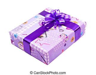 gift box with big bow ribbon
