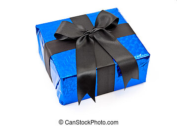 Gift box with black bow