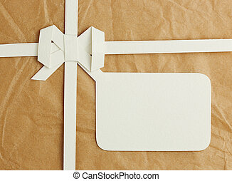 Gift box with blank gift tag