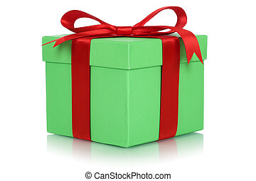 Gift box with bow for gifts on birthday or Valentines day