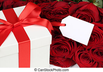 Gift box with copyspace for birthday gifts, Valentine's or mothe