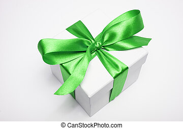 gift box with green loop