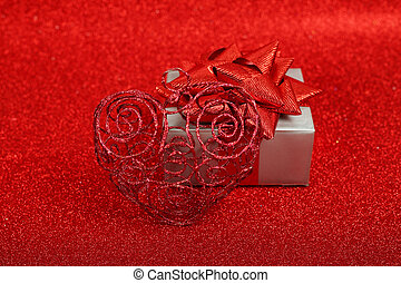Gift Box with heart decor