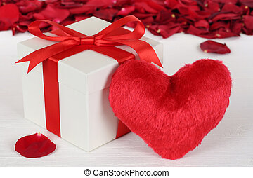 Gift box with heart for Valentine's or mother's day gifts