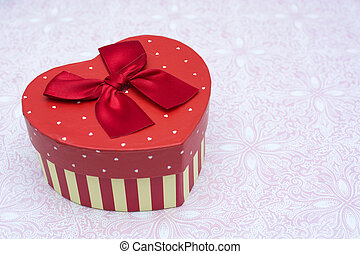 Gift box with heart shape