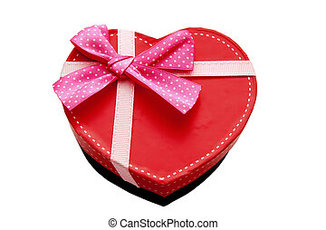 Gift box with heart-shaped