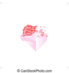 Gift box with hearts