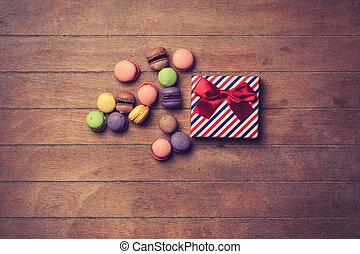 Gift box with macarons