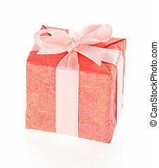 Gift box with pink bow