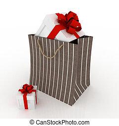 bag for gift on white