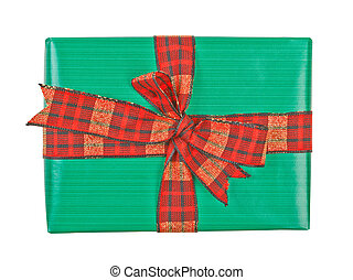 Gift box with ribbon bow