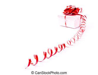 Gift-box with ribbon
