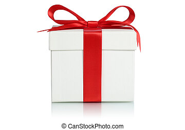 Gift box with ribbon for gifts on Christmas, birthday or Valenti