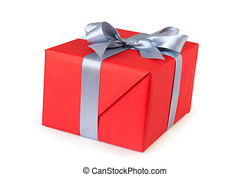 gift box with ribbon isolated