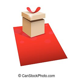 Gift box with space for text.