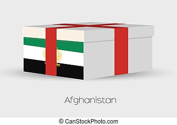 Gift Box with the flag of Afghanistan