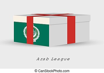 Gift Box with the flag of ArabLeague