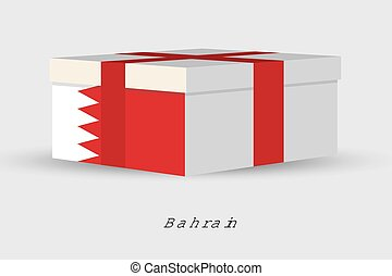 Gift Box with the flag of Bahrain