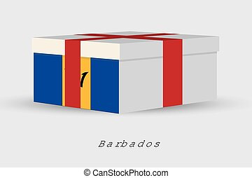 Gift Box with the flag of Barbados