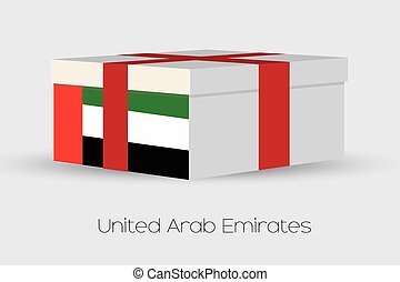 Gift Box with the flag of United Arab Emirates