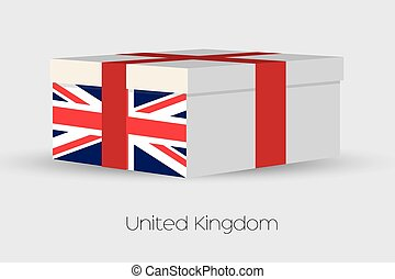Gift Box with the flag of United Kingdom