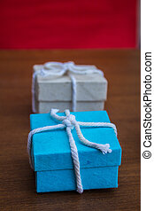 Gift boxes arranged