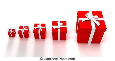 Gift boxes crescendo