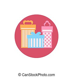 Gift Boxes icon, vector illustration