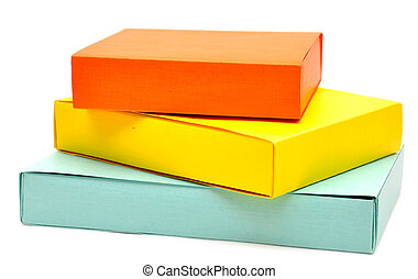 gift boxes over white background