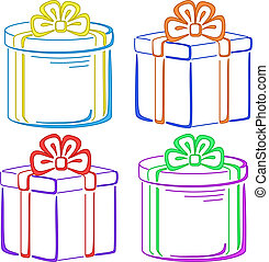 Gift boxes, pictograms