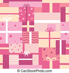 Gift boxes seamless pattern background - Vector gift boxes...