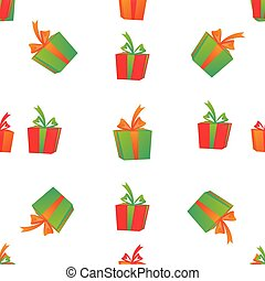 Gift boxes. Seamless pattern