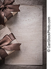 Gift boxes sheet of wrapping paper celebration concept