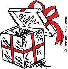 gift boxes sketch. vector illustration