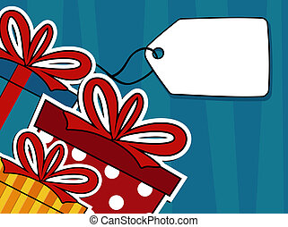 gift boxes vector background