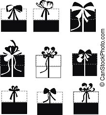 Gift boxes vector set