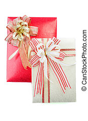 gift boxes with bows and ribbons