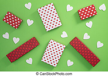 Gift Boxes with little hearts