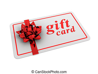 gift card concept  3d illustration
