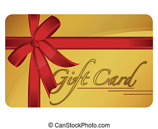 Gift Card - Gold generic gift card. Vector File available.