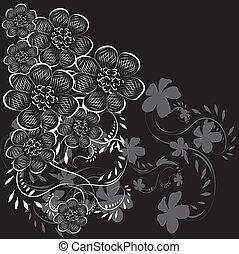 Gift card. Floral design background