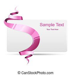 Gift Card - illustration of card wrapped with ribbon on...