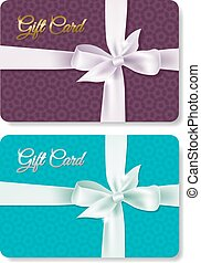 Gift Card Set, With Gradient Mesh, Vector Illustration