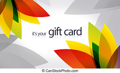 Gift Card - Splash - High resolution gift card with splash...