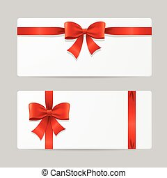 Gift Card Template with Ribbon. Vector
