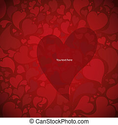 Gift card. Valentine's Day. Vector