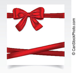 Gift card - Gift cad tied with red ribbon and and nice bow....