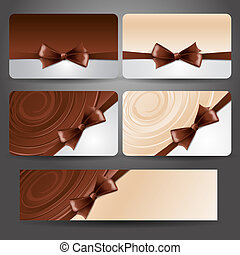Gift card with chocolate bow and whirlpool