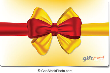 Gift card with colorful bow