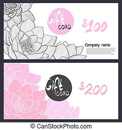 Gift Card with delicate pink lily